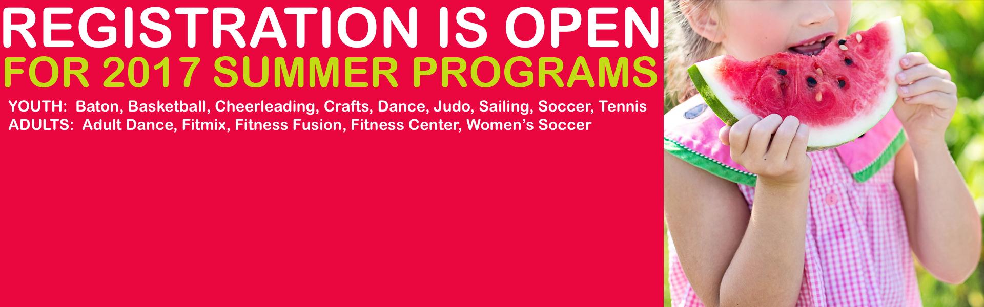 banner Summer programs 2017