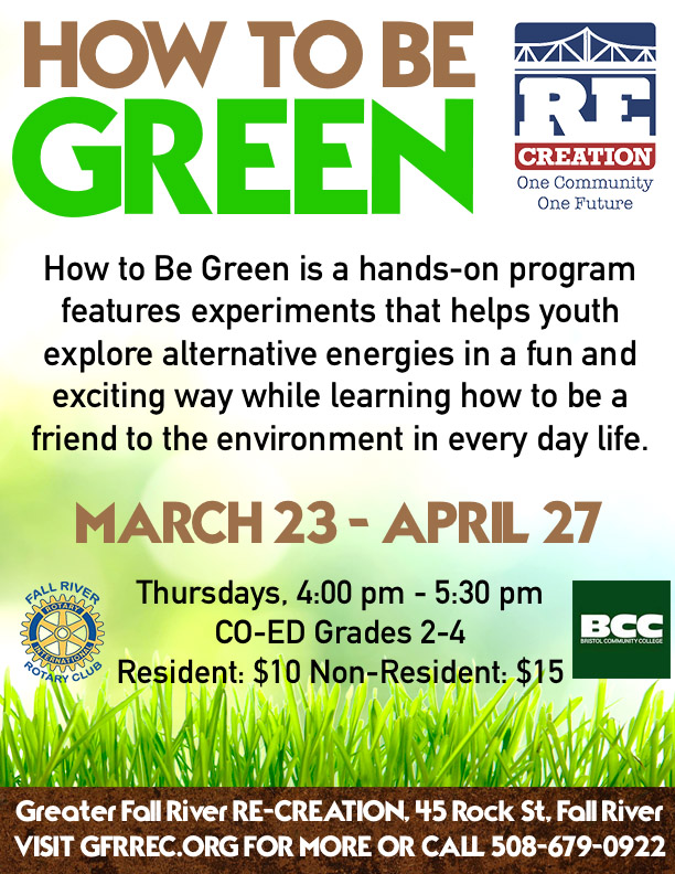 How to be Green flyer