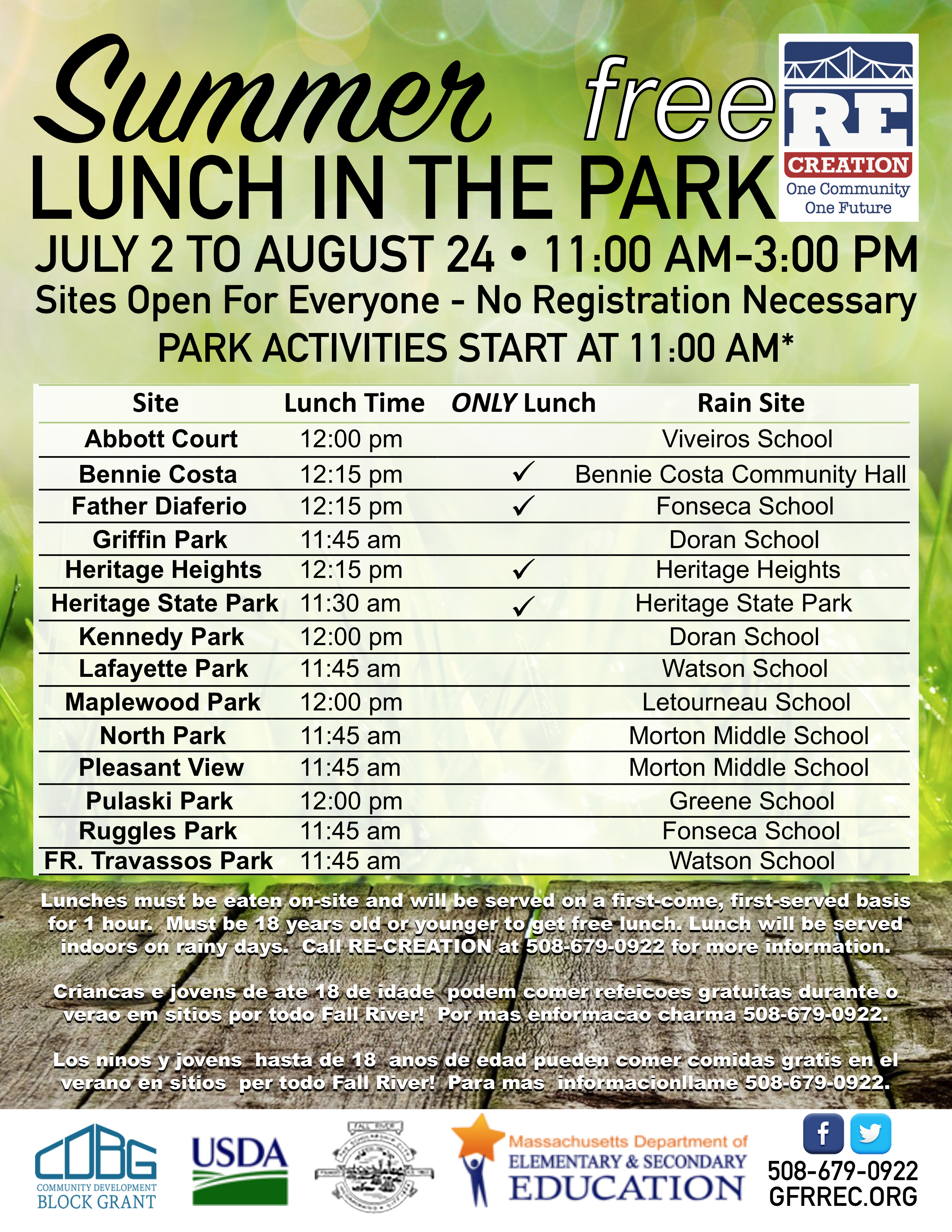 Summer Lunch in the Park 2018